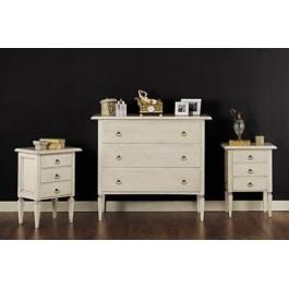 In offerta comodino legno laccato avorio anticato o bianco x camera da letto - Camera da letto frassino bianco ...