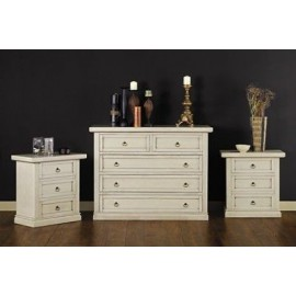 IN OFFER COMODINO PAINTED IVORY ANTIQUE - WHITE X BEDROOM