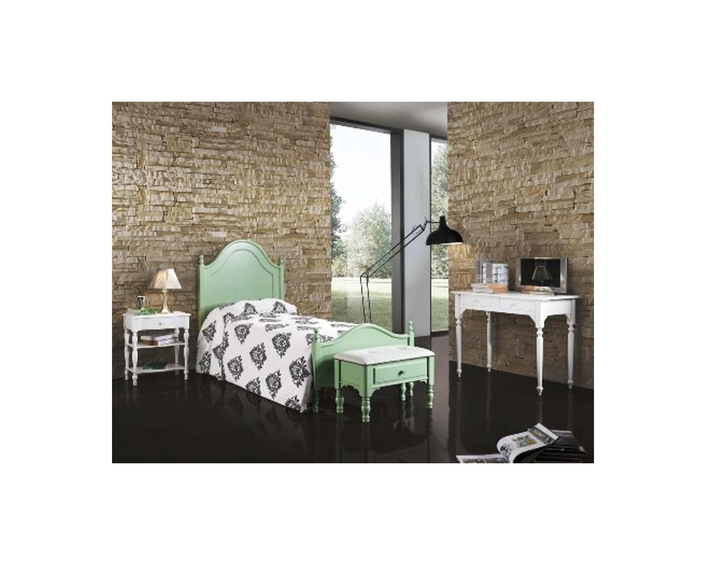 Camera da letto singola legno laccato vari coloricountry - Camera da letto singola ...