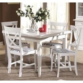 Tavolo legno quadrato 100x100 allungabilelaccato bianco for Tavolo quadrato