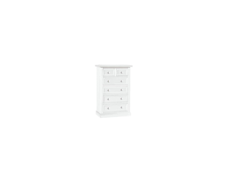 Cassettiera settimanale laccata bianco opaco x camera da letto bagno multiuso - Cassettiera camera da letto ...