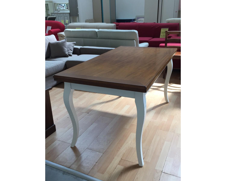 Tavolo legno bicolore anticato140x85 allungabile for Tavolo legno invecchiato