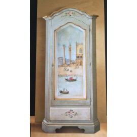CABINET WOOD DECORATED WITH ANTIQUE DECORATIONS VENICE