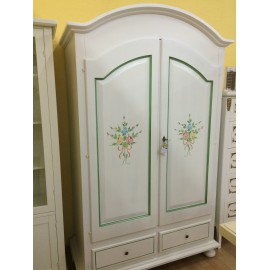 PROVENCAL CABINET WOODEN DECORATED WITH WHITE