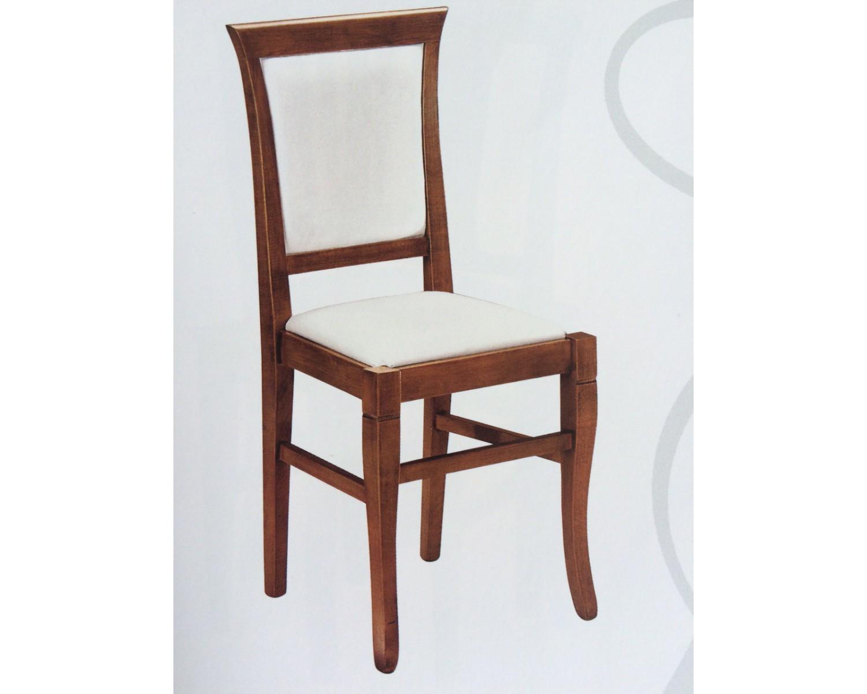 Sedia legno colore noce seduta e schiena imbottita