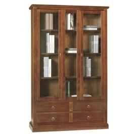 Libreria In Legno Noce.Vetrina Libreria In Legno Colore Noce Scuro 119x40xh185