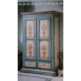 CABINET WOOD DECORATED BY HAND COUNTRY VENETO