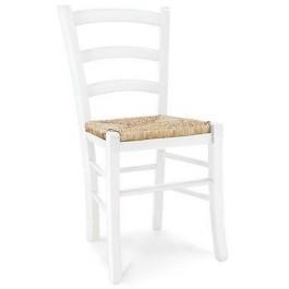 4 pezzi sedia sedie legno col bianco opaco seduta paglia for Sedie x salotto