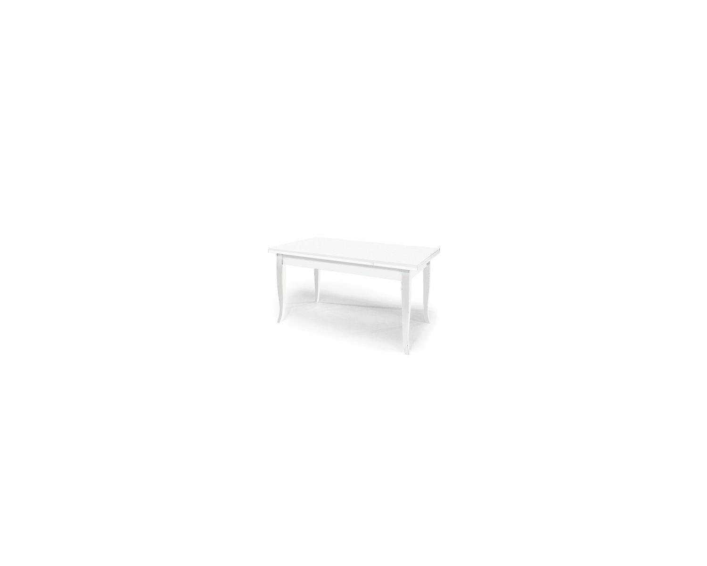 Matt Blanc Table Extensible 160 240 X 85 Bois Laque Blanc