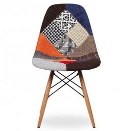 Sedie Tessuto Design.Sedia Design In Tessuto Patchwork Con Gambe In Legno Di Faggio
