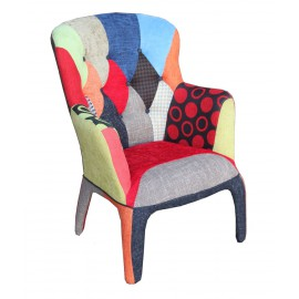 ARMCHAIR CHAIR DESIGN Patchword MULTICOLORE