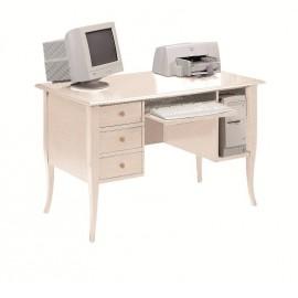 TABLE DESKTOP PC DOOR IN WOOD WITH IVORY COATED