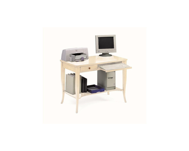 Tavolo scrivania porta pc in legno col avorio patinato