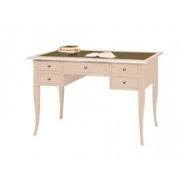 TABLE DESK L 150 PC PORT WOOD COATED WITH IVORY