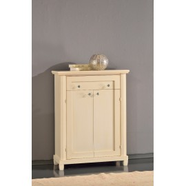 CABINET WOODEN SHOE ENTRATINA IVORY COATED