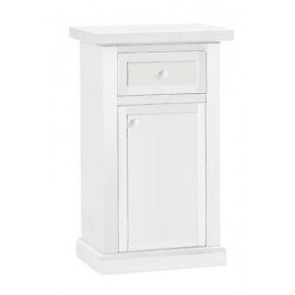 BEDSIDE DRAWER CABINET WHITE MATT WOOD PRODUCTS VENETO