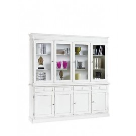 CRISTALLIERA WINDOW DRESSER WHITE MATT WOOD PRODUCTS VENETO X HALL KITCHEN