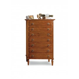 CHEST OF WOOD WALNUT COLOR AS PHOTO