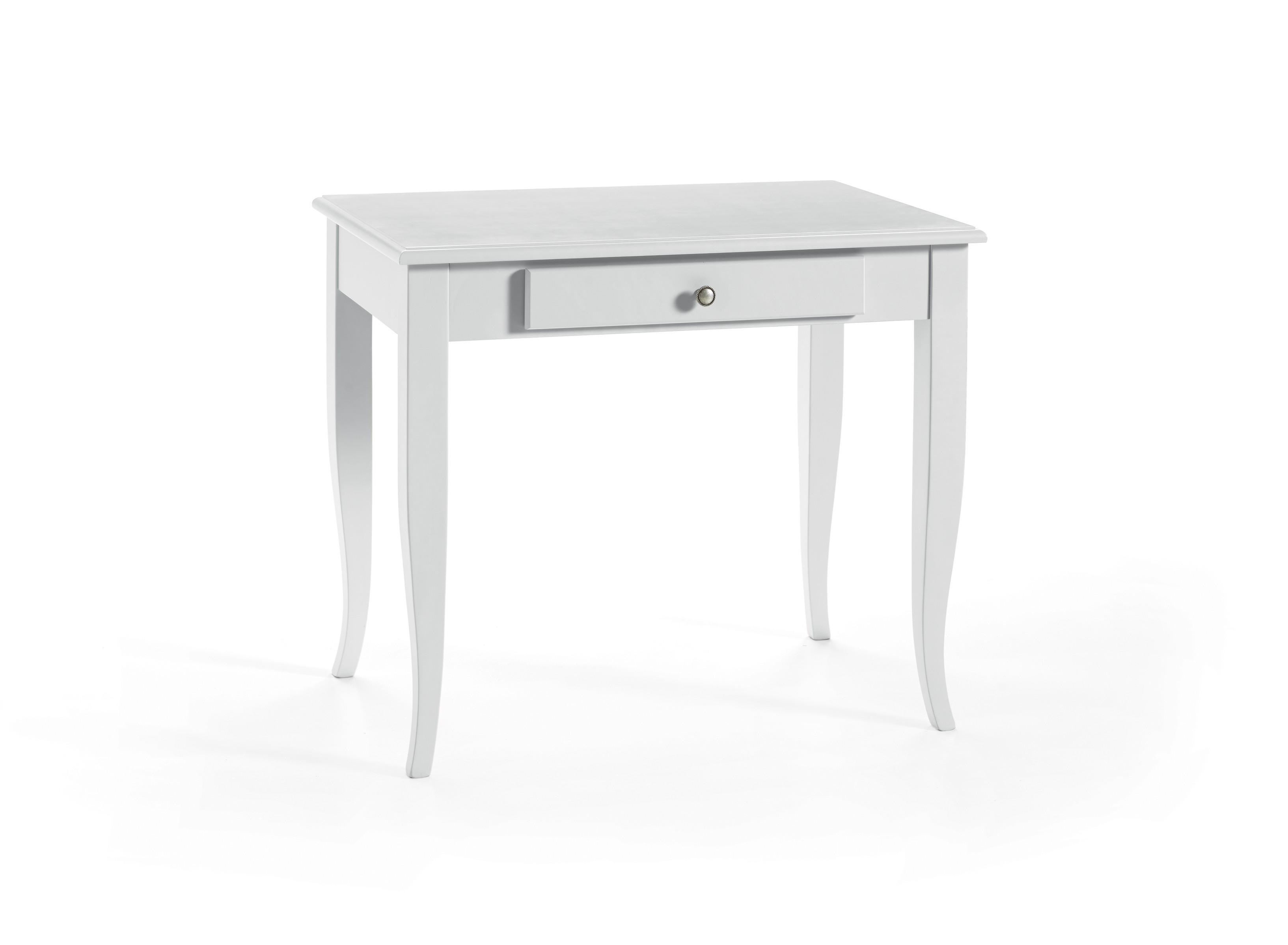 Scrivania In Legno Bianco : Scrittoio scrivania in legno colore bianco