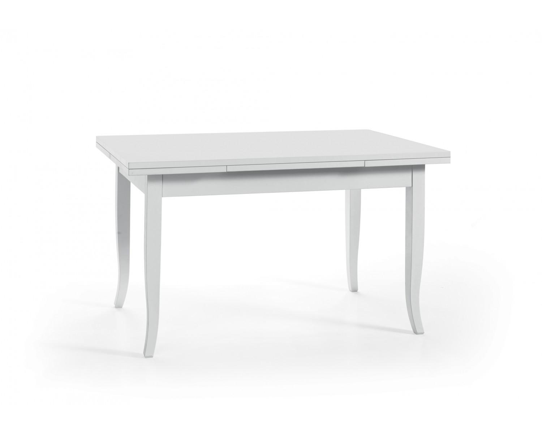 Tavolo In Legno Bianco Allungabile.Tavolo In Legno 140x80 Allungabile Colore Bianco