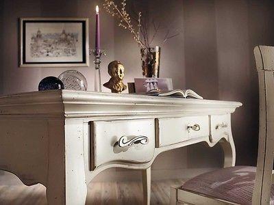 Scrivania In Legno Bianco : Bianco scrivania di legno vintage compatto scrivania bf