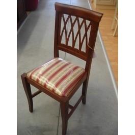 2 pezzi sedia legno cucina sala imbottita arte povera for Sedie in legno massello prezzi