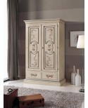 CABINET WOOD IVORY DECORATED