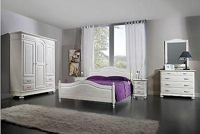 Camera Da Letto Bianco : Camera da letto bianco spazzolato legno massello letto como