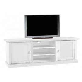 TV STAND WOOD MATT WHITE L 160X46X H 56 X LIVING ROOM