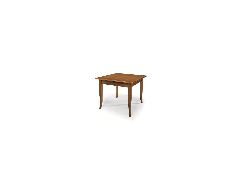 Tavolo rettangolare fisso 120x80 legno col noce arte for Tavolo 120x80