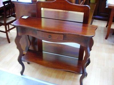 Holz konsoltisch und spiegel input poor art col.noce italian mÖbel