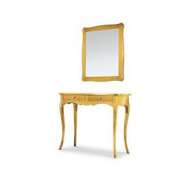 MOBILE CONSOLE PAINTED GOLD DESK TABLE ENTRY