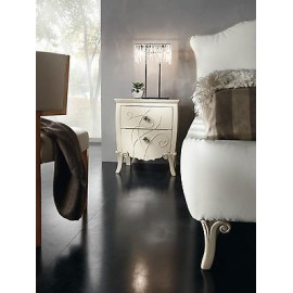 COMODINO GLOSS BEIGE MATT WOOD PRODUCTS VENETO 2 DRAWER