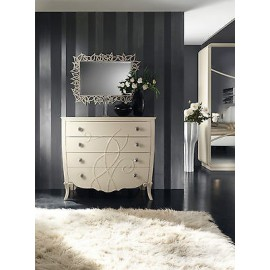 COMO 'GLOSS BEIGE MATT WOOD PRODUCTS VENETO 4 DRAWER CHEST