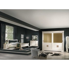 DOUBLE PAINTED CABINET -COMO-BED-MIRROR-COMODINI WOOD
