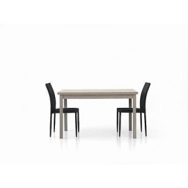 WOOD EXTENDING TABLE MODERN 130x80 gray oak LIVING ROOM KITCHEN TEMP