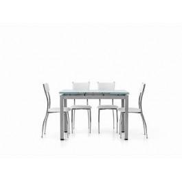 110x70 Verre Plancher Temp Moderne Extensible Metal Table De Blanc Grey R54Lq3Aj