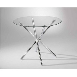 ROUND TABLE MODERN PIANO GLASS DIAMETER 90 H 74 - X LIVING ROOM