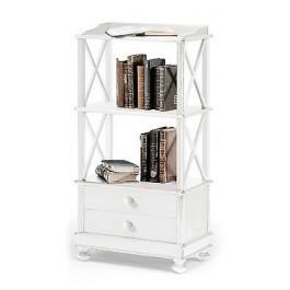 Libreria con cassetti e mensole legno bianco opaco x for Salotto con libreria