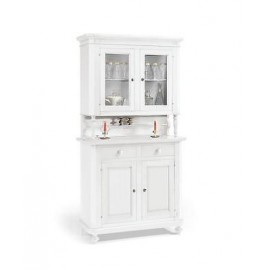 FEATURED Cristalliera DRESSER WHITE MATT WOOD PRODUCTS VENETO X HALL KITCHEN