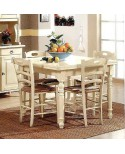 WOODEN TABLE 80 X 80 EXTENDING ANTIQUE WHITE - IVORY - VARIOUS COLORS