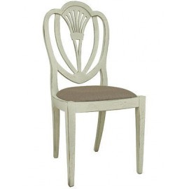 KITCHEN CHAIR WOOD PADDED SEAT LAQUERED
