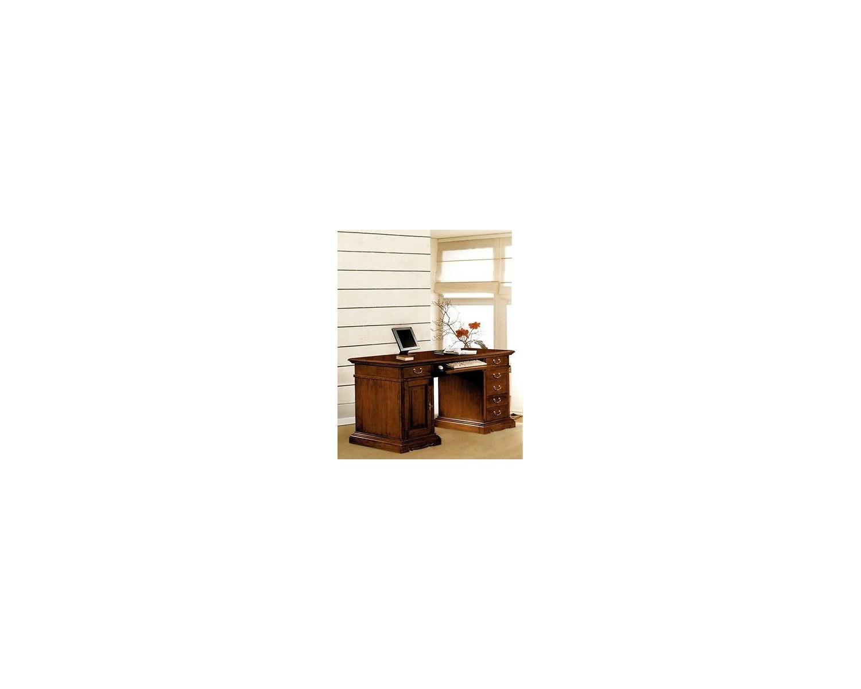 Scrivania Ufficio Legno Massello : Scrivania curva in legno massello scontata del
