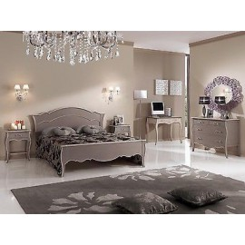 DOUBLE BED BEDSIDE COMO DESK COLOR ANTIQUE TORTORA
