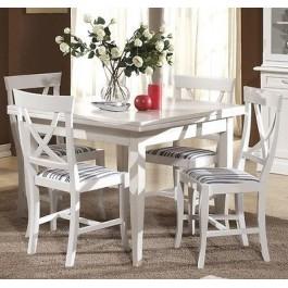 tavolo legno quadrato 100x100 allungabile 4 sedie laccato