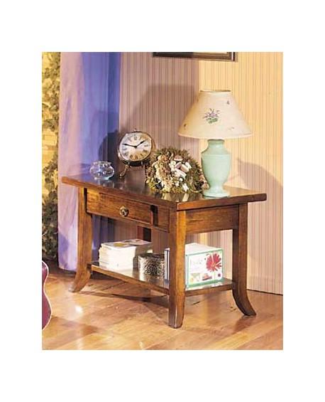 Tavolino legno massello varic colori L.80 P.47 H.50