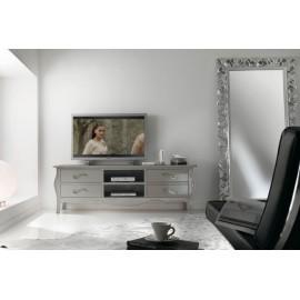 porta tv in legno sagomato vari colori - L.182 P.50 H.61