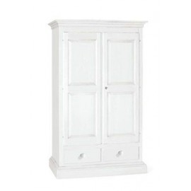 MOBILE CABINET 2 DOORS 2 DRAWERS LACQUERED MATT WHITE
