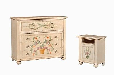 Como chest wood decorated by hand painted antique country collection