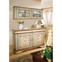 Armario de tocador de madera decorados a mano antiguo - Muebles decorados a mano ...